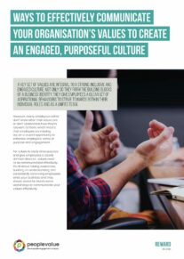 Ways to effectively communicate your organisation's values to create an engaged, purposeful culture_Page_1